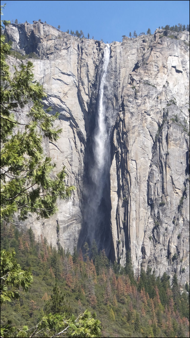 hike to base of ribbon falls, yosemite national park