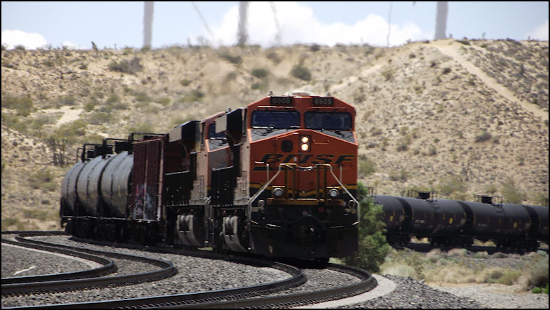 Photographing Railroad Action on U P 's Mojave Subdivision
