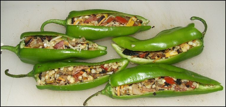 Recipe For Grilled Stuffed Anaheim Chili Peppers