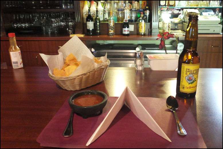 Photo I Seated Myself At The Bar Ordered A Pacifico Beer Which Is My Favorite Brand Of Mexican And Was Immediately Given Basket Chips